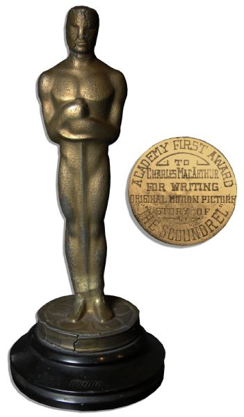 Academy Award Won by Charles MacArthur in 1936 For ''The Scoundrel'' -- The First Year The Name ''Oscar'' Was Used!