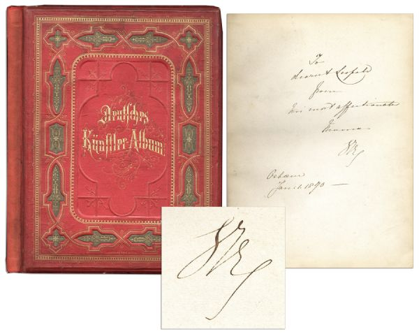 Queen Victoria Signed Book, Dedicated in Her Hand to Her Son Prince Leopold -- Who Died of Hemophilia at Age 30