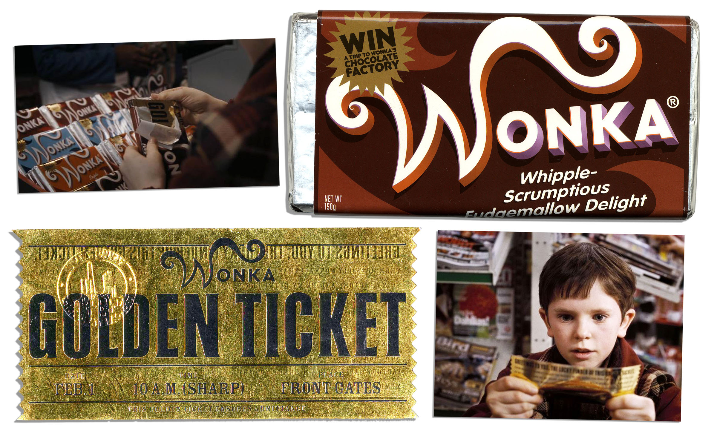 Lot Detail Willy Wonka Prop Chocolate Bar Golden Ticket
