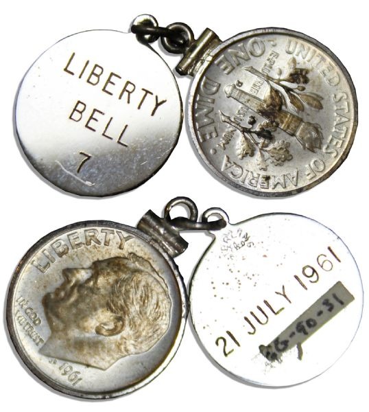 Liberty Bell 7 Space Flown Dime From Mercury-Redstone 4, the Second Manned Mission in NASA History -- From the Estate of Its Astronaut Gus Grissom