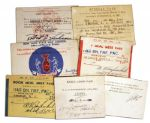 Bob Keeshan Collection of Seven 1940s Navy-Related ID Cards