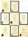 Captain Kangaroo Lot of 8 Award Certificates Bestowed by Television Today