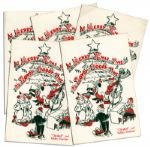 Bob Keeshan Christmas Cards From His Days on Howdy Doody as Clarabell the Clown -- Lot of 5 -- Circa 1948-1952