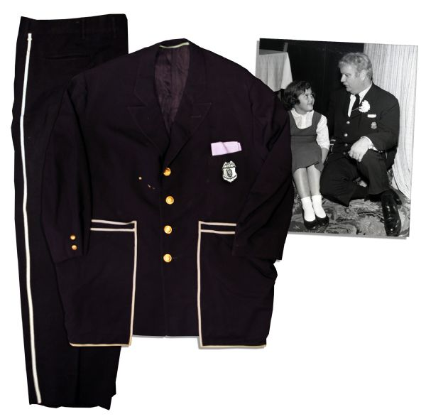 Captain Kangaroo's 1955-1971 Screen-Worn Navy Blue Suit With the Kangaroo-Pocket Jacket That Inspired the Name -- The First Incarnation of the Captain Before the Red Jacket Days