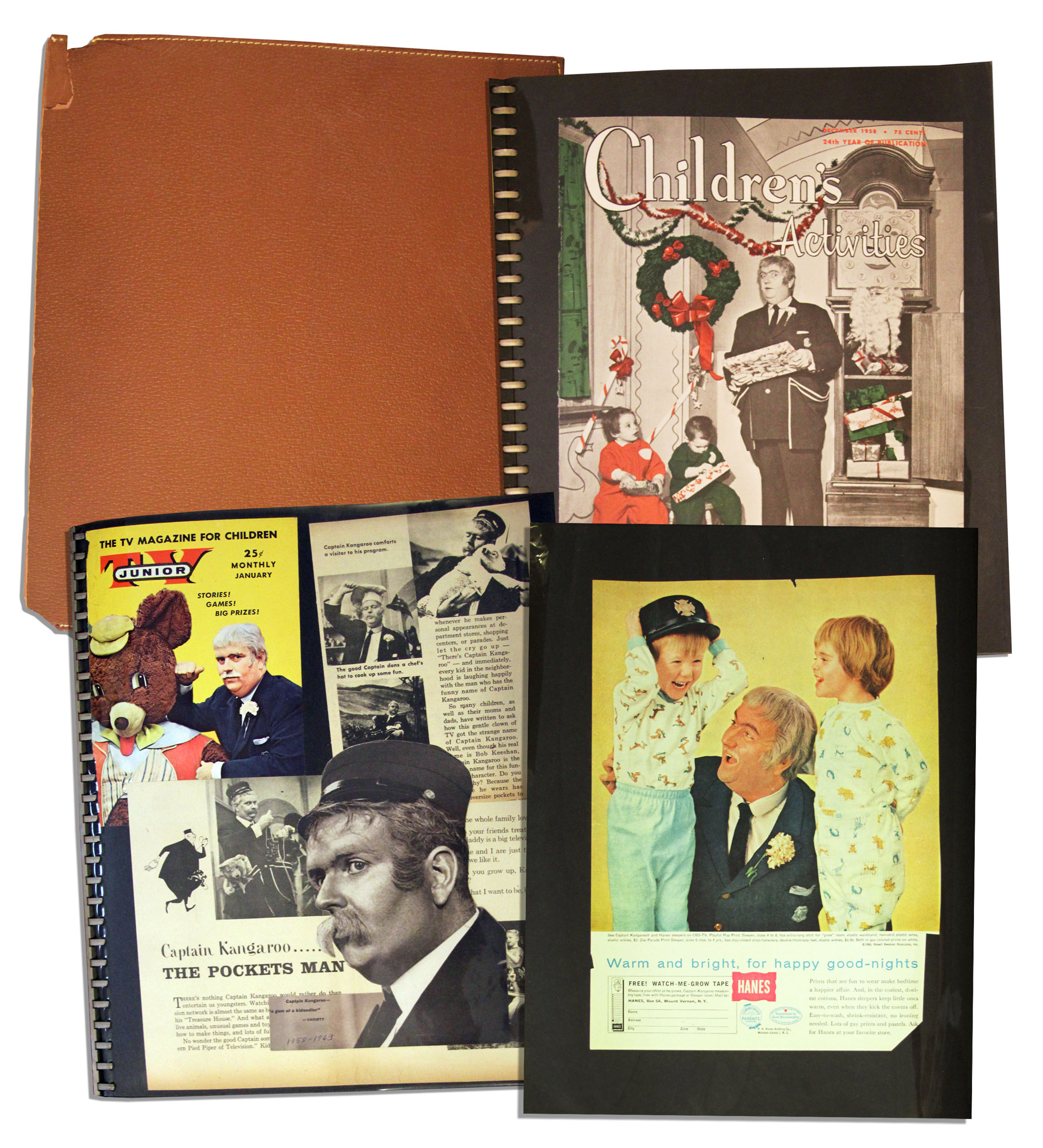 How to scrapbook magazine articles - Bob Keeshan S Personally Owned Scrapbook Documenting His Captain Kangaroo Show From 1958 1963