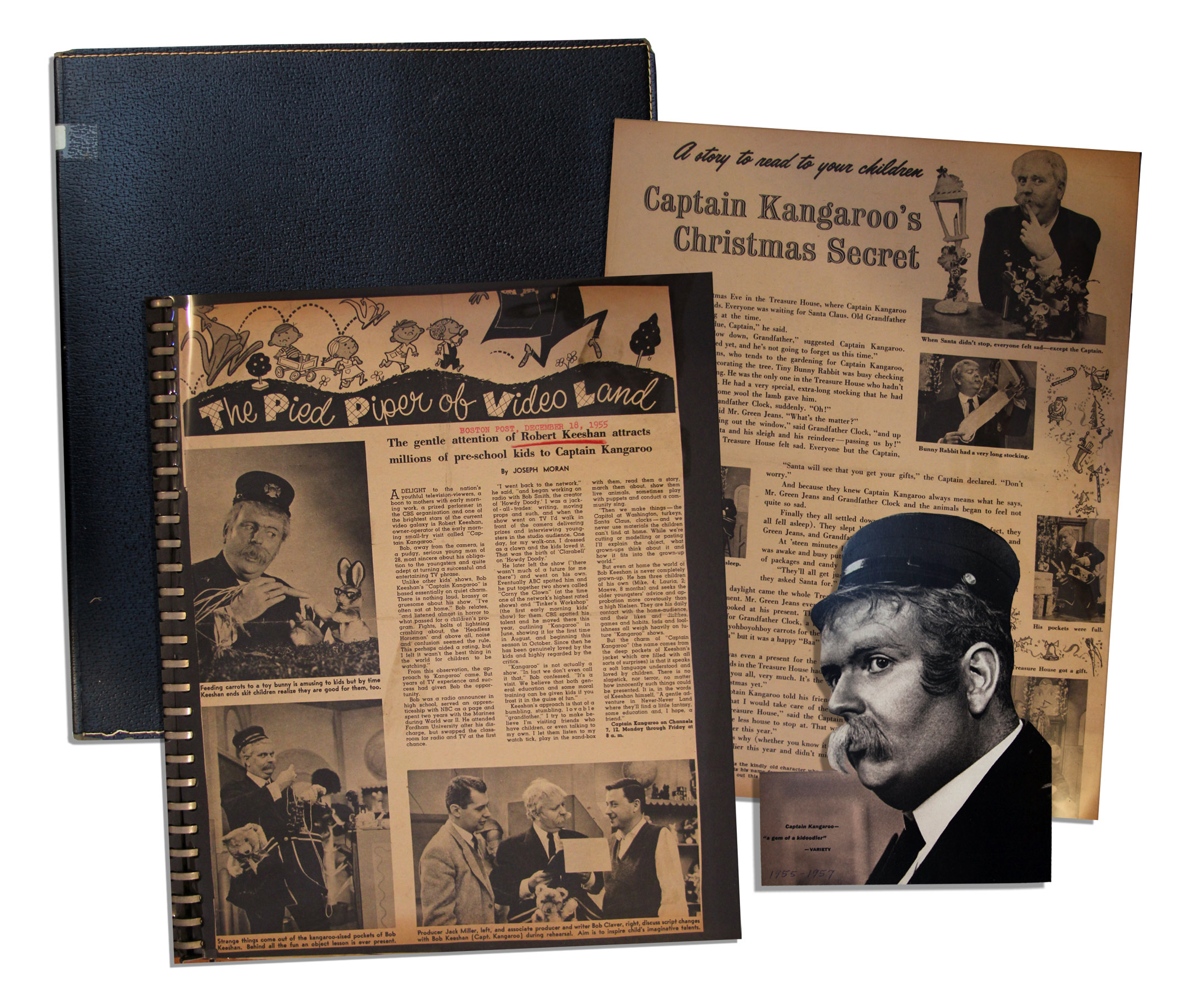 How to scrapbook magazine articles - Bob Keeshan S 1955 1957 Scrapbook Newspaper Magazine Articles Celebrating Show