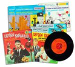 Captain Kangaroo Lot of 6 Audio Records -- 45s From 1957 & 1959 Including Theme Song