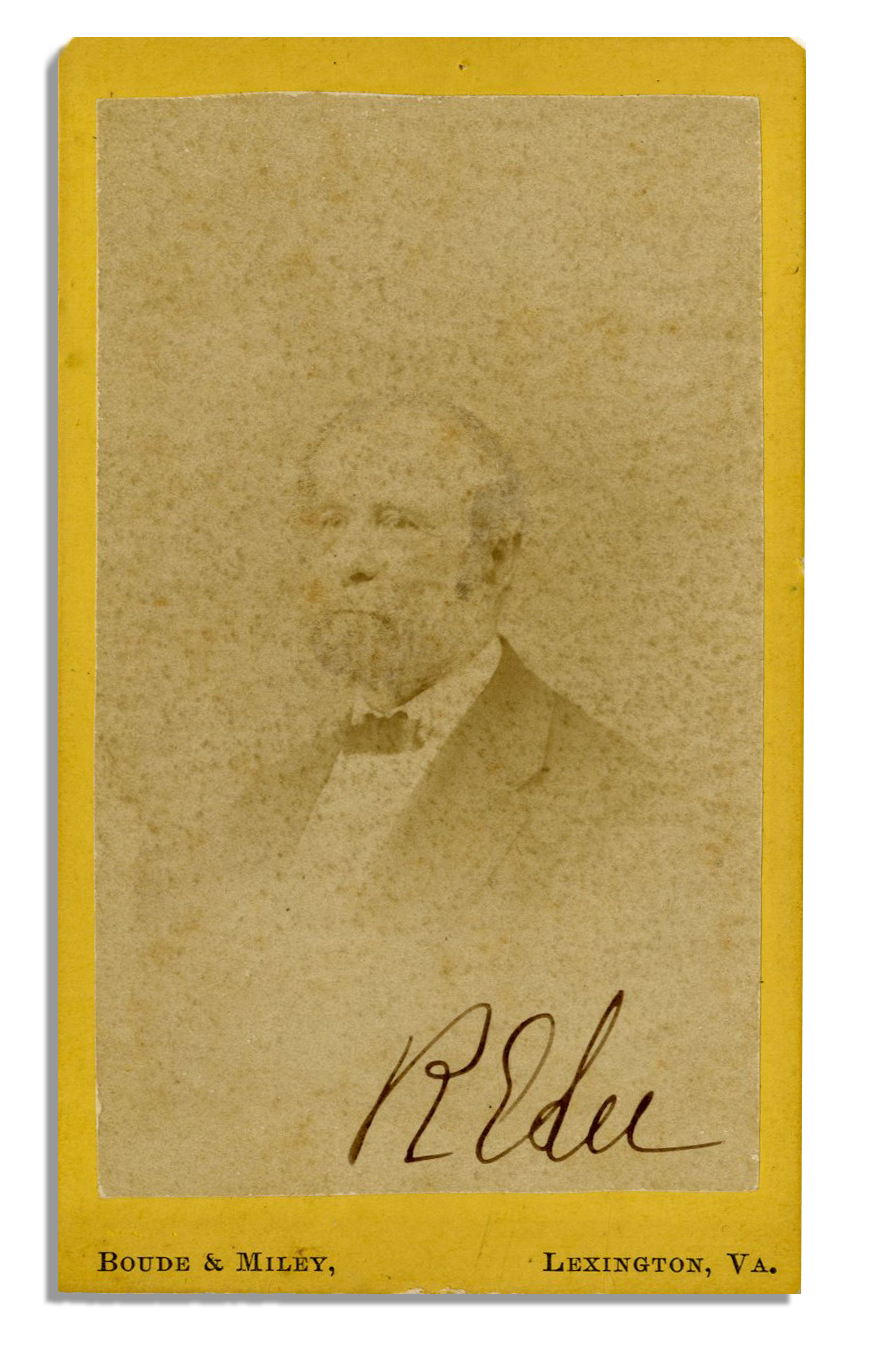 Robert E. Lee autograph CDV Photograph of Robert E. Lee Signed Boldly by the General