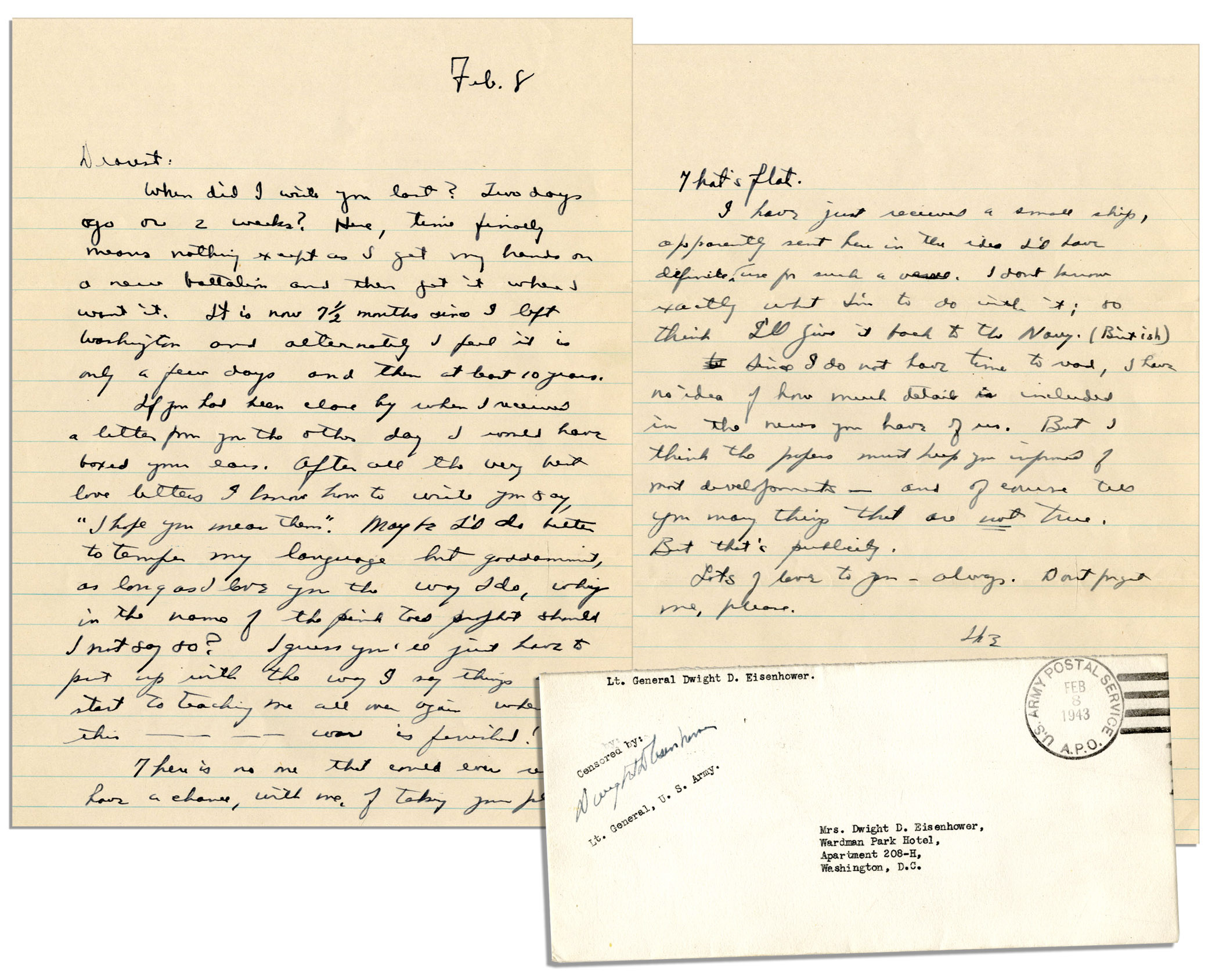 Eisenhower WWII Letter To His Wife    U0027u0027...After All The