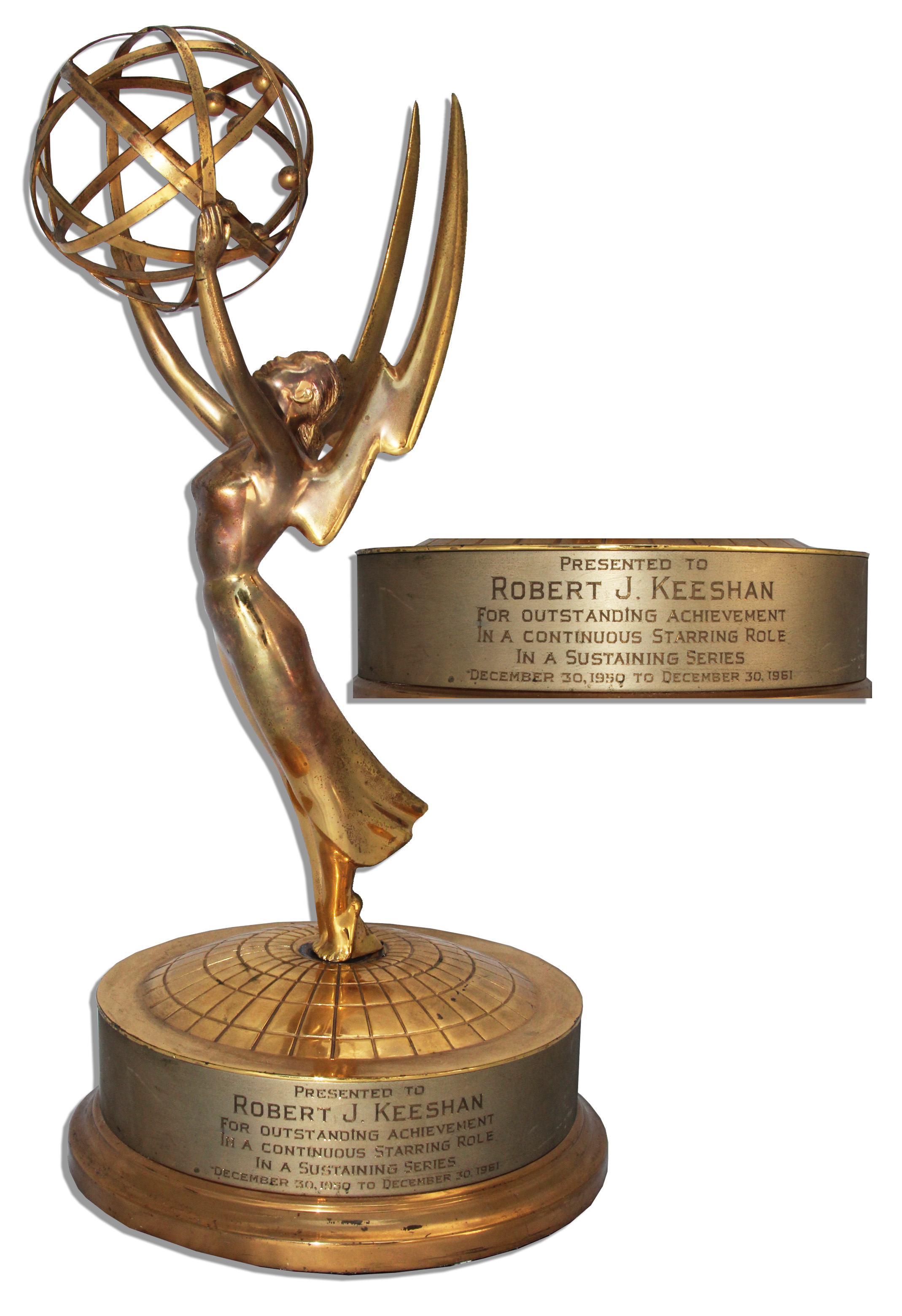 Lot Detail - Bob Keeshan Emmy Award for His Performance as ...