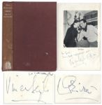 Vivien Leigh & Laurence Oliver Signed First Edition Book, The Oliviers -- Very Rare Dual Signatures