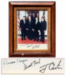 Four Presidents Photo Signed by Reagan, Ford, Carter and Nixon -- Near FIne