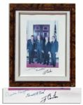 Four Presidents Signed Photo -- Reagan, Ford, Carter & Nixon