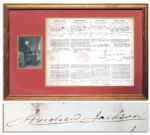 Andrew Jackson Presidential Document Signed From 1834 -- Rare Four-Language Ships Papers