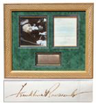 Franklin D. Roosevelt 1935 Letter Signed on White House Stationery -- ...would bring you in from these corporations just as much money as you get now...