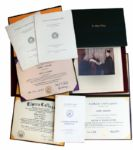 Robert Keeshan Honorary Degrees in Presentation Portfolios Conferred From 1969-1983 -- Lot of 5