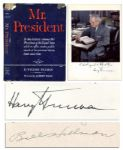 Harry Truman Signed First Edition of Mr. President -- Also Signed by the Books Author