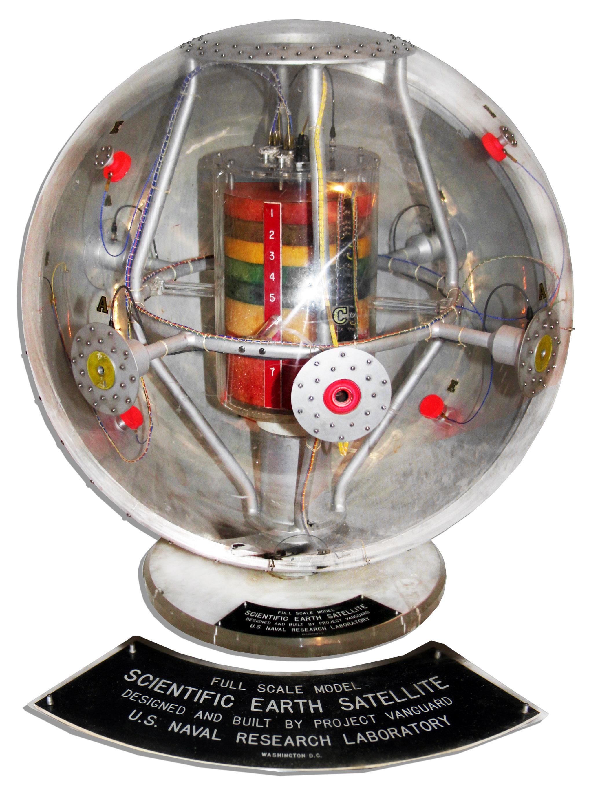 Lot Detail - Historic 1950's Model of The Vanguard 1 ...