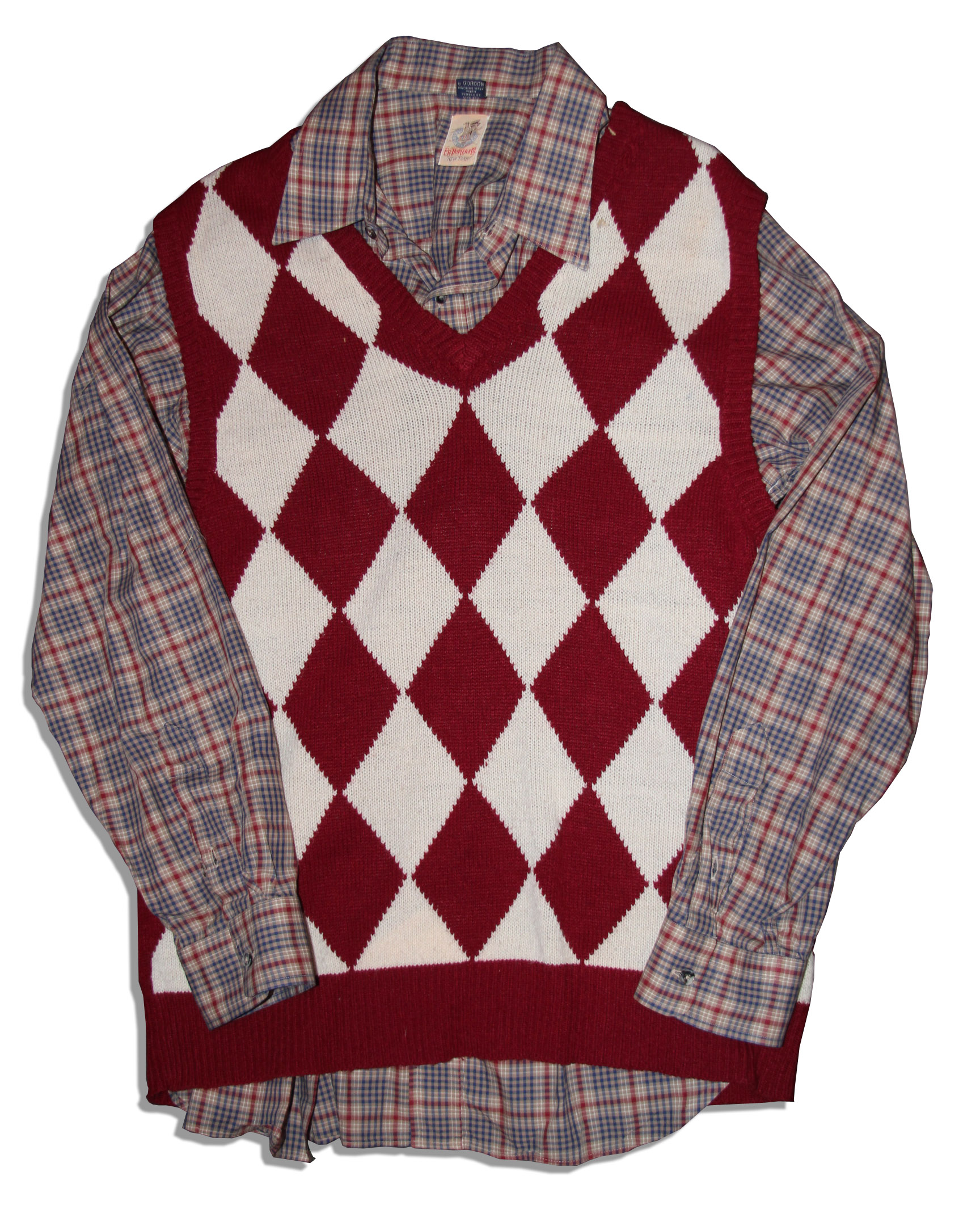 Plaid Sweater Vests - Gray Cardigan Sweater