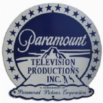 1950s Paramount Pictures Sign -- Large Metal Sign Measures Nearly 2 Feet x 2 Feet