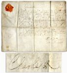 King Charles II Document Signed From 1680 -- With Correction in His Hand Mentioning His Illegitimate Son Charles FitzCharles, 1st Earl of Plymouth