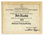 Emmy Certificate Awarded to Bob Keeshan in 1975