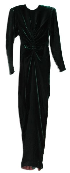 Princess Diana Dress Auction Sumptuous Velvet Gown Worn by the Famous Humanitarian and Fashion Icon, Princess Diana in 1985 -- Designed by Victor Edelstein