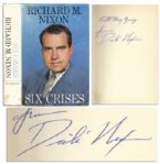 Richard Nixon Signed First Edition of Six Crises