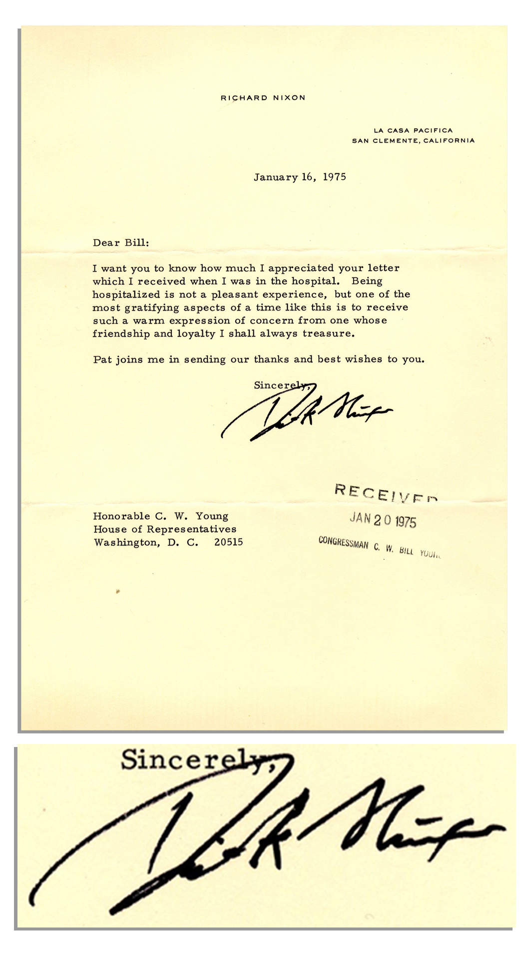 Lot Detail Richard Nixon Typed Letter Signed Shortly After His