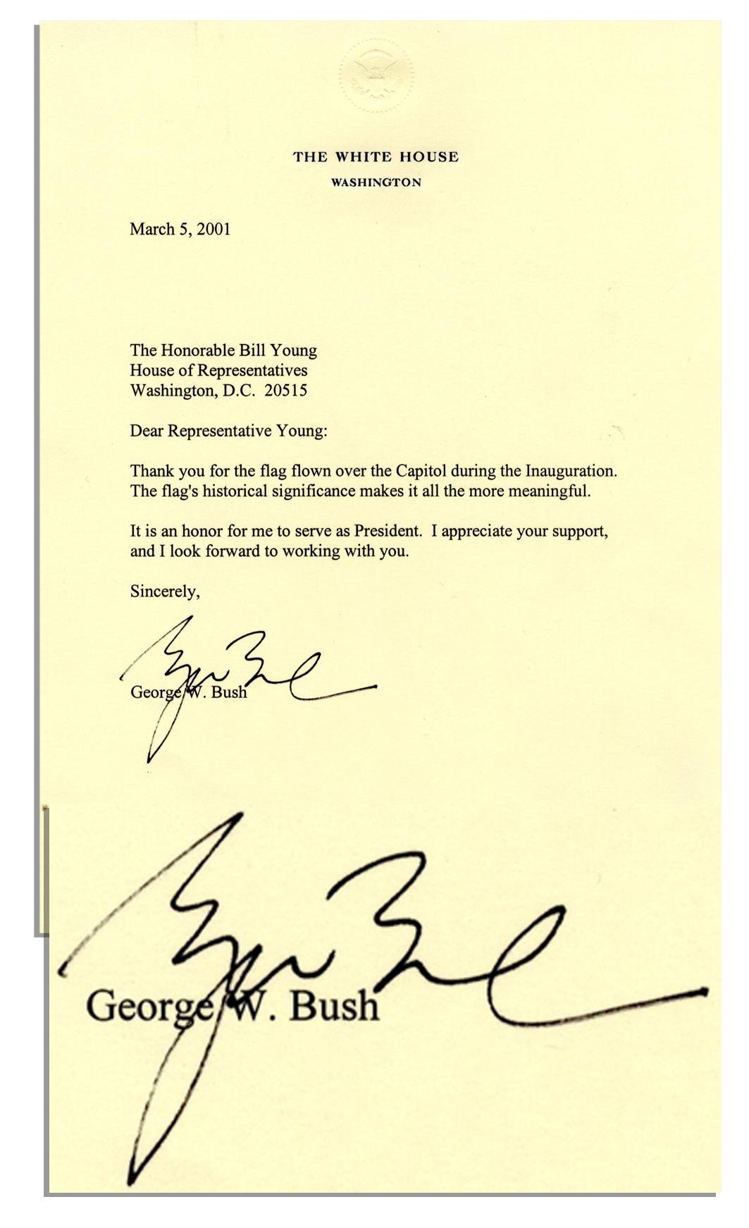 George Bush Autograph