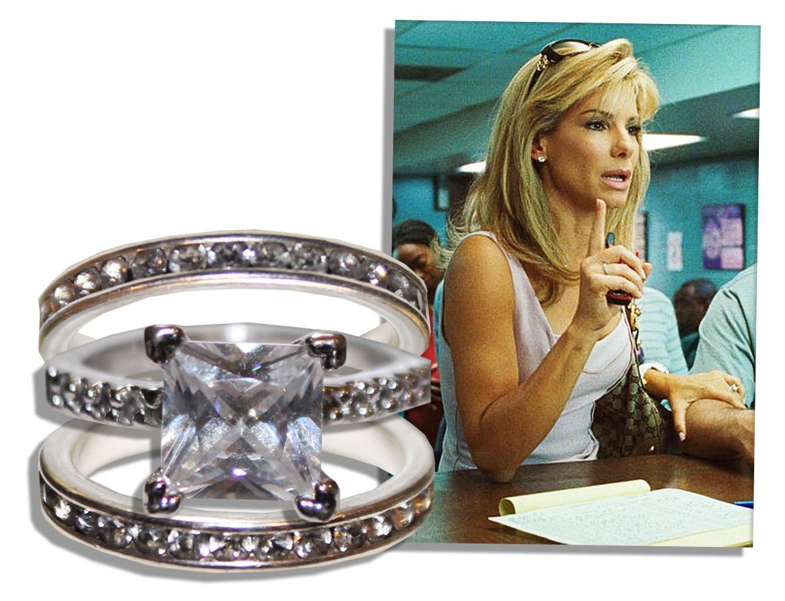 Lot Detail Sandra Bullock ScreenWorn Engagement Wedding Rings