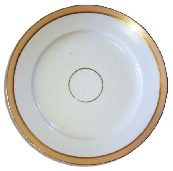 Exceedingly Rare Lincoln White House China Plate -- From the ''Buff Set'' Ordered by Mary Todd in 1865 Less Than Two Months Before Lincoln's Assassination
