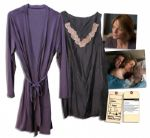 Jodie Foster Screen-Worn Silk Nightgown & Robe From Her Directorial Endeavor The Beaver