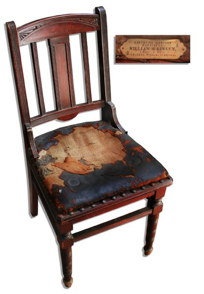 Original Chair From Presidency of William McKinley -- Circa 1900 From the White House, Then Known as Executive Mansion