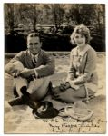 Rare Douglas Fairbanks & Mary Pickford Signed Photo -- With Inscription In Pickfords Hand