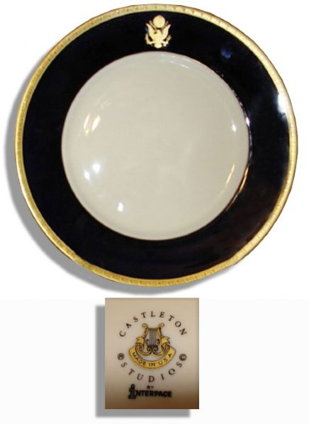 Ronald Reagan Memorabilia Auction Stately Ronald Reagan Presidential Dinner Plate