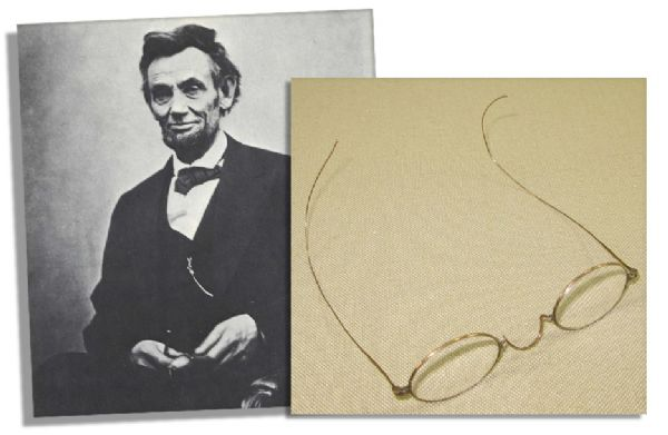 Abraham Lincoln Personally Owned and Worn Spectacles -- With Provenance From Lincoln's Family