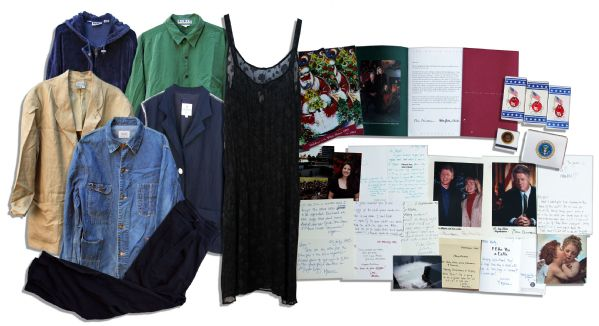 Extraordinary Lot of Items From Monica Lewinsky -- Used by Kenneth Starr in His Case for Impeachment Against Bill Clinton -- Monica ALS: ''...am I good at lying through my teeth or what...''