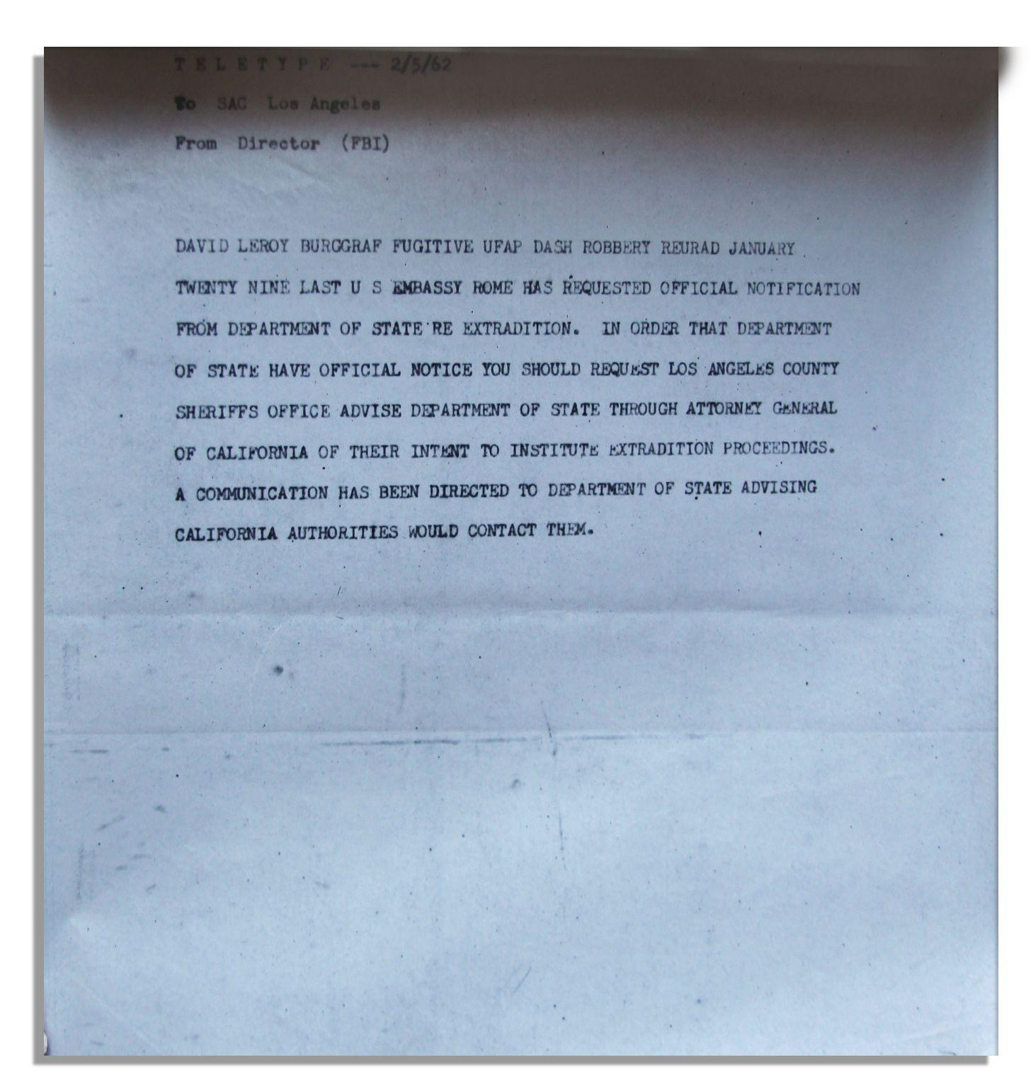 Lot Detail - John F  Kennedy International Extradition Document