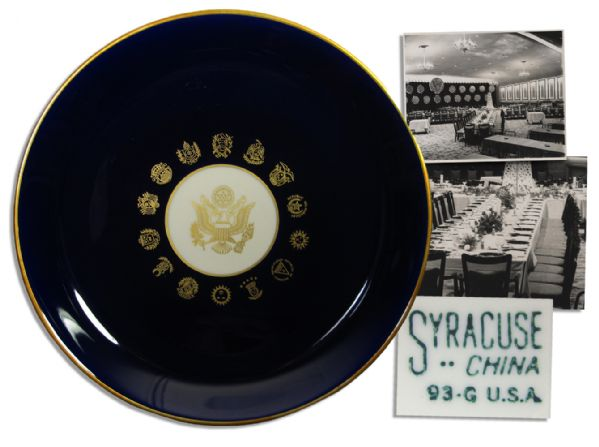 Plate From JFK's Last Official Dinner -- Four Days Before His Assassination