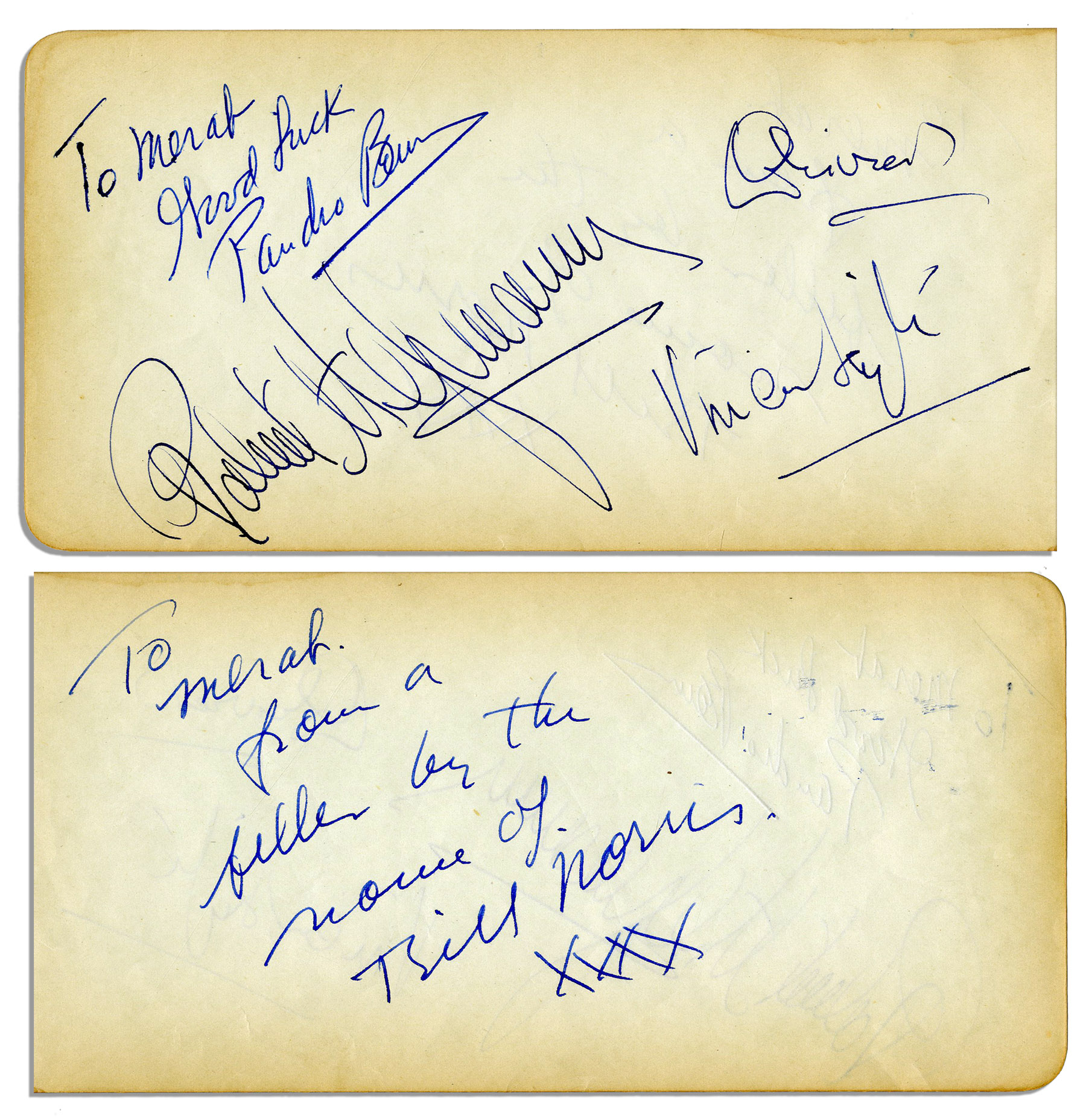 Lot Detail - Nice Group of Signatures of Vivien Leigh, Laurence ...