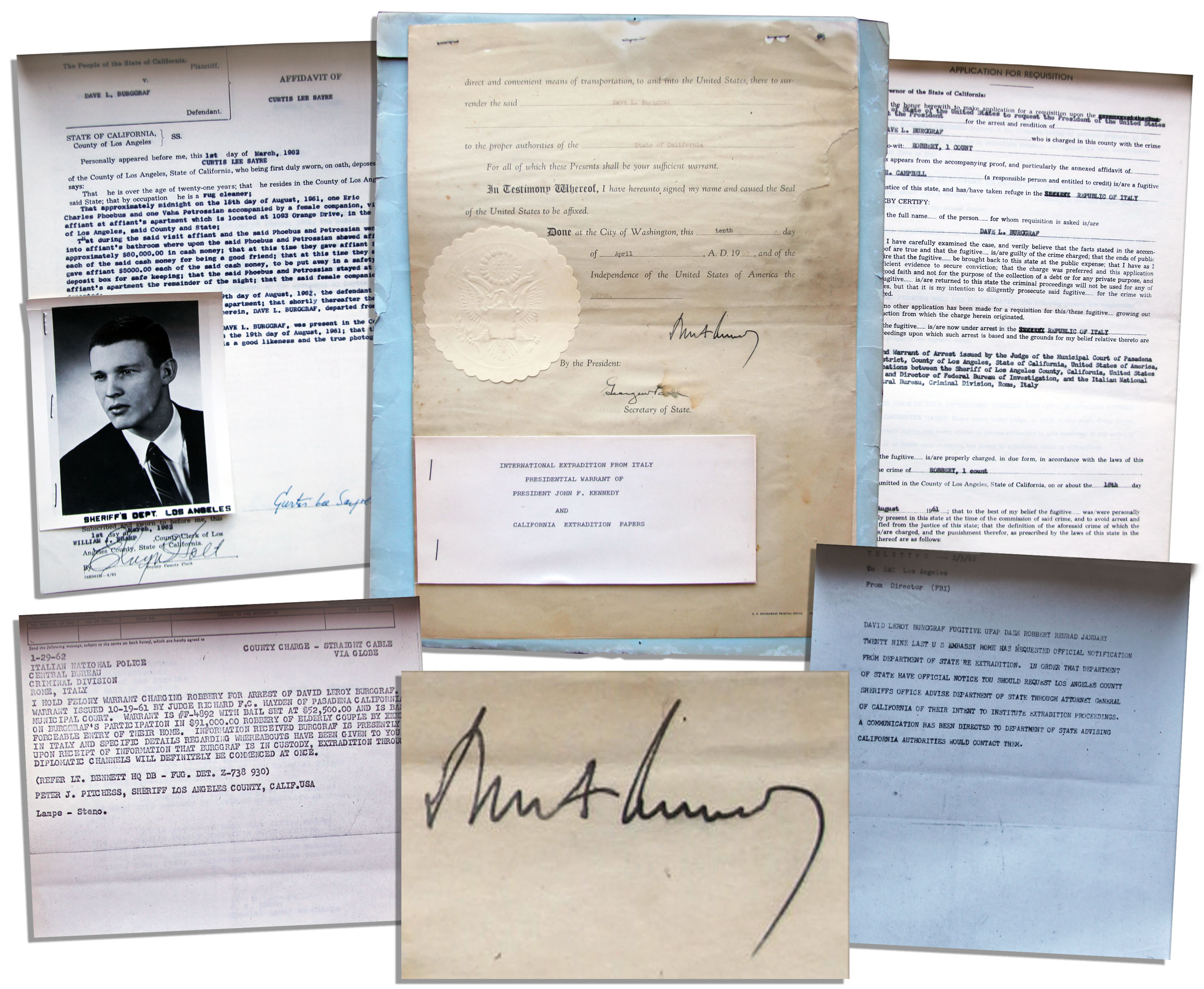 John F Kennedy Autograph John F. Kennedy International Extradition Document Signed as President During The Last Year of His Life -- Scarce -- With PSA/DNA COA