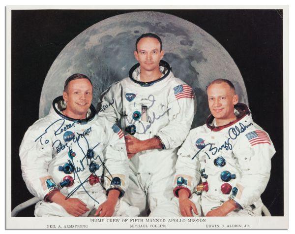 Apollo 11 Crew Signed 10'' x 8'' Photo