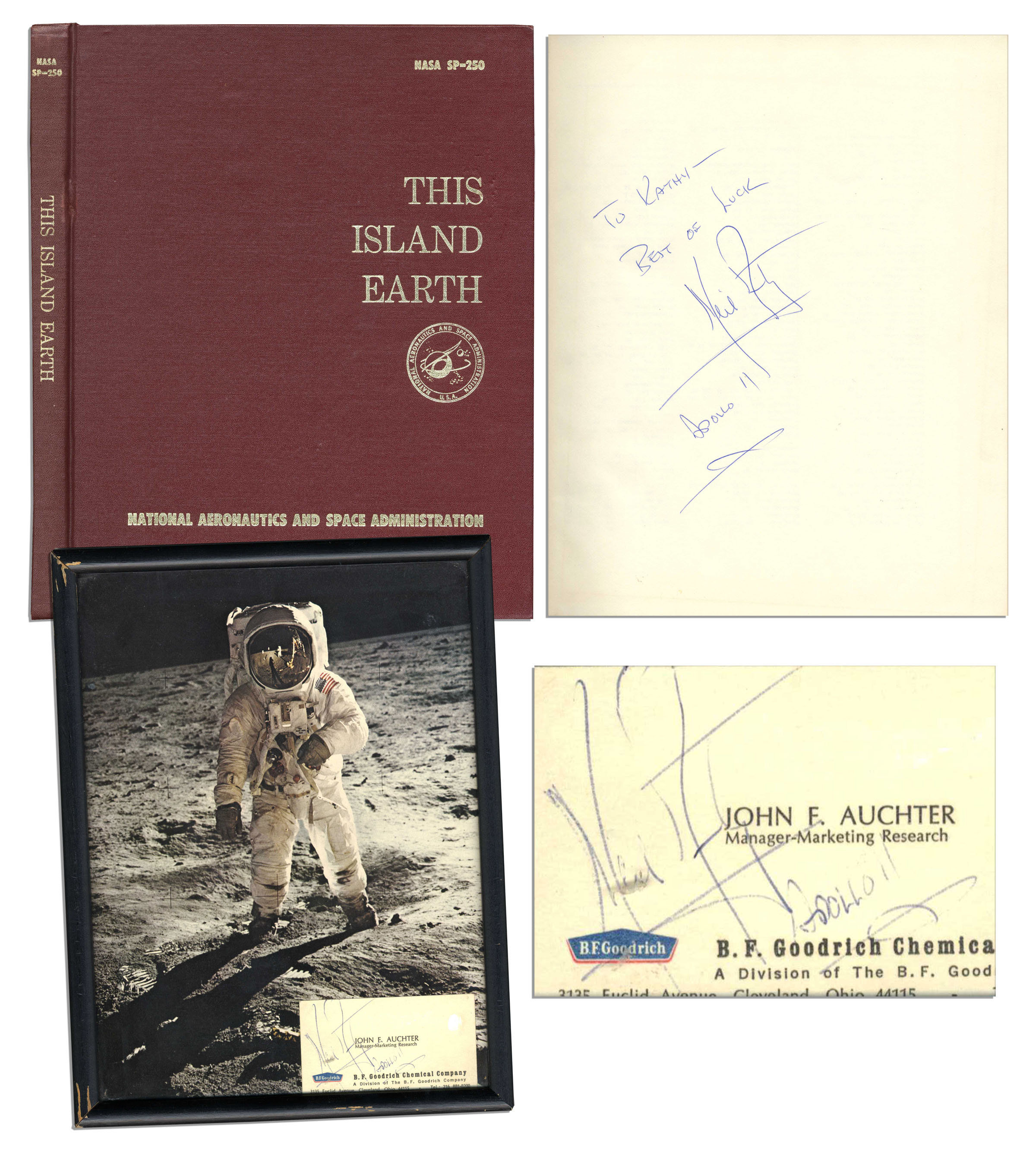 Lot detail two neil armstrong signed items nasa book business two neil armstrong signed items nasa book business card colourmoves