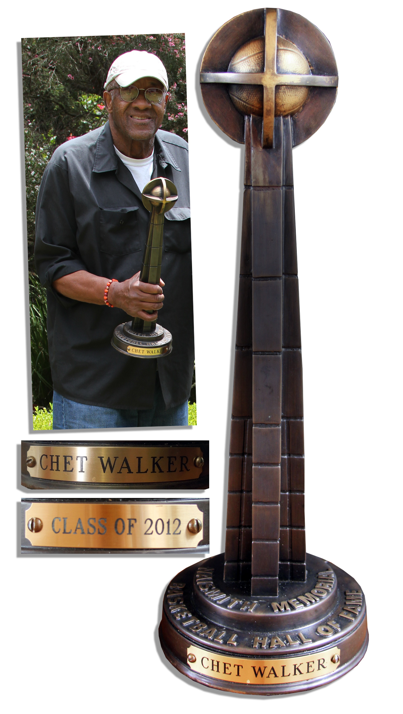 Lot Detail Chet The Jet Walker s Hall of Fame Trophy Fine