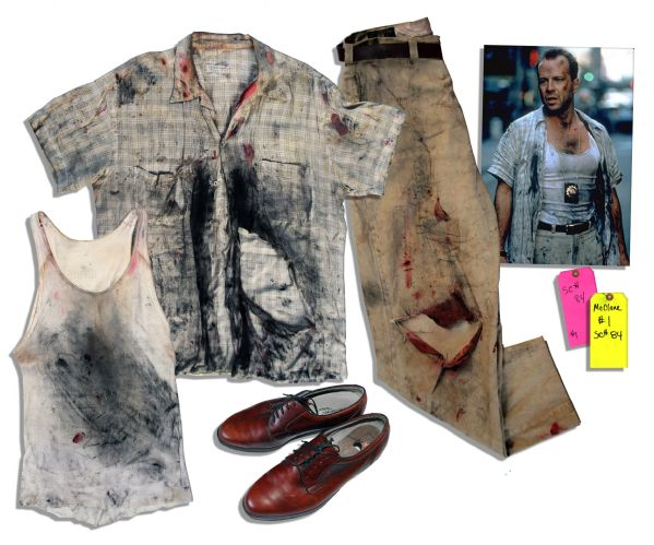 Bruce Willis Costume From One of His Most Famous Roles as the Quick-Witted Lt. John McClane in ''Die Hard With a Vengeance''