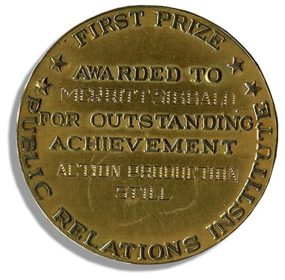 An Incredible Rarity.  An Oscar Medal, Not a Trophy, for Still Photography Award Presented to Merritt Sibbald for 1940-41