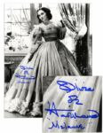 Olivia De Havilland 11 x 14 Signed Photo -- Olivia de Havilland / Melanie in Gone With the Wind Costume -- Fine