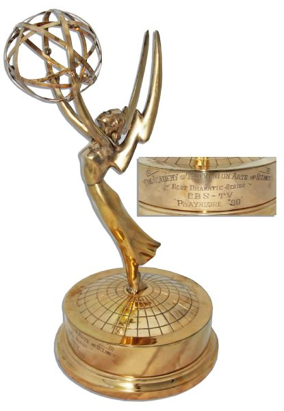 Emmy Award Trophy Won by CBS in 1957 -- For Their Groundbreaking 90-Minute Live Drama ''Performance 90''