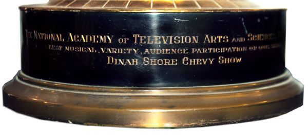 Rare 1950's Emmy -- Dinah Shore's Emmy Award For the ''The Dinah Shore Chevy Show''